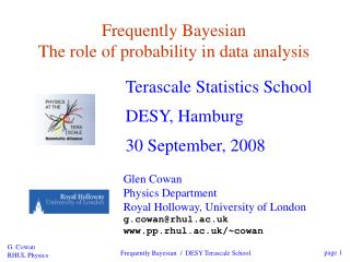 Frequently Bayesian The role of probability in data analysis