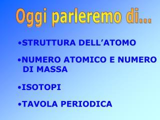 STRUTTURA DELL ATOMO