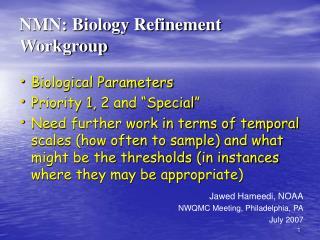 NMN: Biology Refinement Workgroup