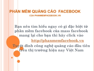 ph?n m?m qu?ng c�o facebook
