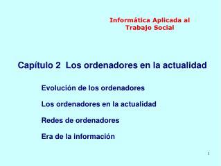 Inform tica Aplicada al Trabajo Social