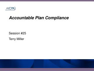 Accountable Plan Compliance