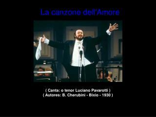 Canta: o tenor Luciano Pavarotti   Autores: B. Cherubini - Bixio - 1930