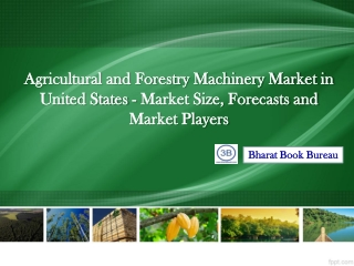 Agricultural and Forestry Machinery Market in United State