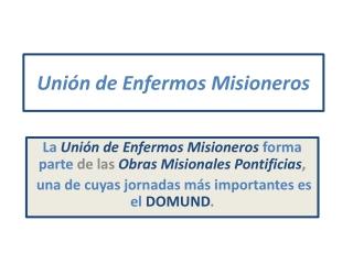 Unión de enfermos misioneros