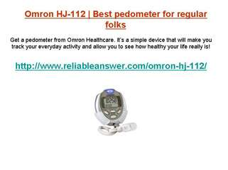 Pedometer hj-112 from Omron