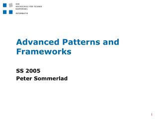 Advanced Patterns and Frameworks
