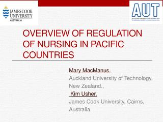 Overview of Regulation of Nursing in Pacific Countries