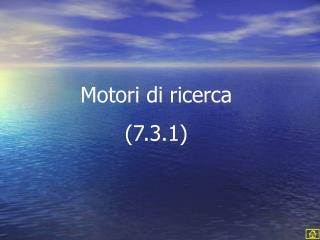 Motori di ricerca 7.3.1