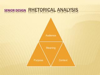 Senior Design   Rhetorical Analysis