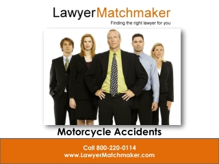 Lawyer Matchmaker What to do After a Motorcycle Accident