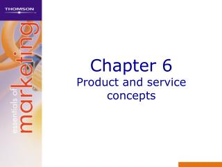 Chapter 6 Product and service concepts