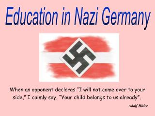 Education in Nazi Germany