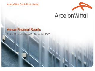 Annual Financial Results