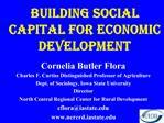 Building Social Capital for Economic Development