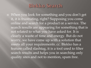 Blekko already has built-in controls to manage personally identifiable data.