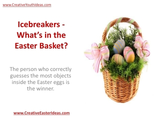 Icebreakers - What's in the Easter Basket?