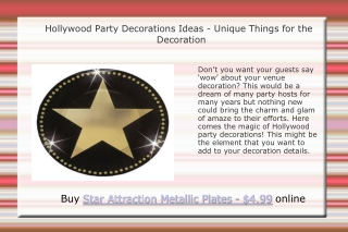 Hollywood Party Decorations Ideas
