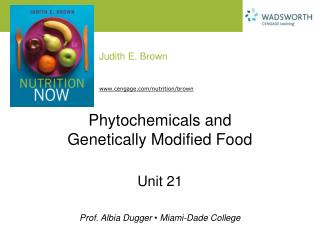 Phytochemicals and Genetically Modified Food