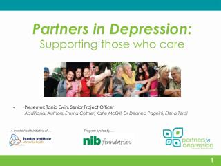 Partners in Depression: Supporting those who care