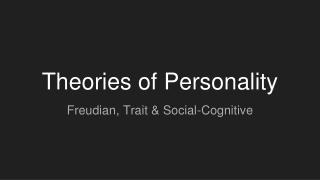 TRAIT PSYCHOLOGY