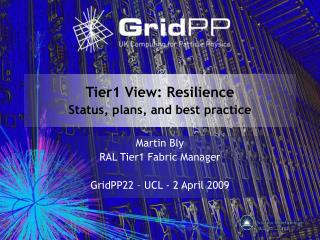 Tier1 View: Resilience Status, plans, and best practice