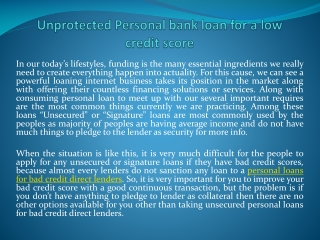 personal loans for bad credit online