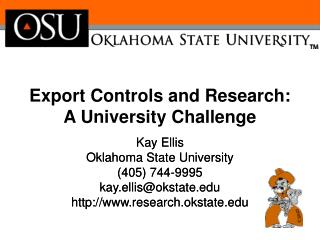 Export Controls and Research:   A University Challenge