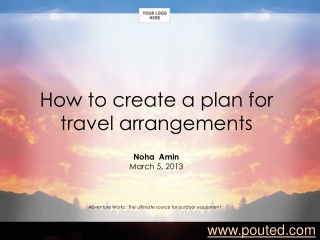 How to create atravel plan arrangememnts?