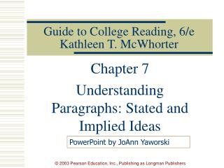 Guide to College Reading, 6