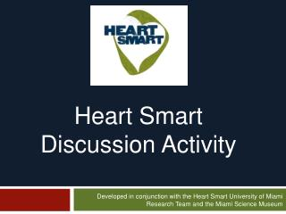 Heart Smart  Discussion Activity