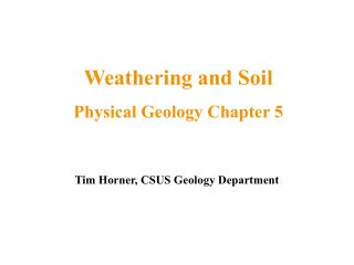 Tim Horner, CSUS Geology Department