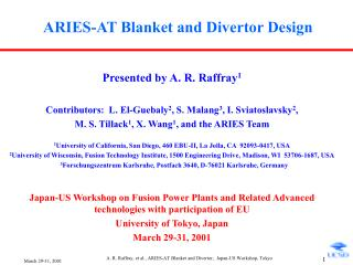 ARIES-AT Blanket and Divertor Design