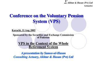 Conference on the Voluntary Pension System VPS