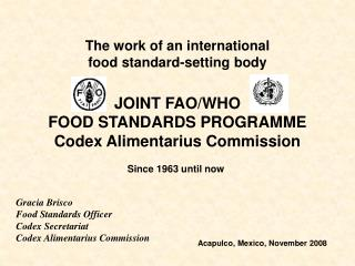 JOINT FAO