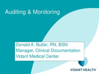 Auditing  Monitoring