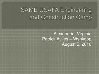 SAME USAFA Engineering and Construction Camp
