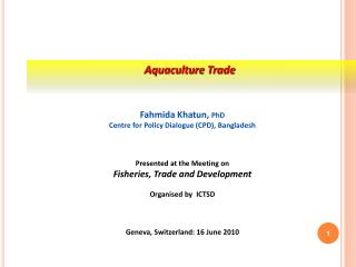 Aquaculture Trade