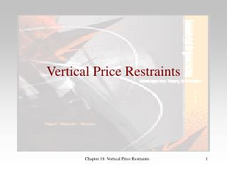 Vertical Price Restraints