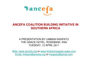 ANCEFA COALITION BUILDING INITIATIVE IN SOUTHERN AFRICA