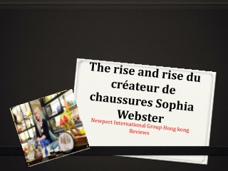 The rise and rise du créateur de chaussures Sophia Webster