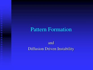 Pattern Formation