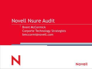 Novell Nsure Audit
