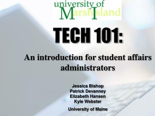 TECH 101: An introduction for student affairs administrators