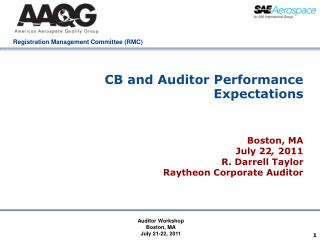 CB and Auditor Performance Expectations
