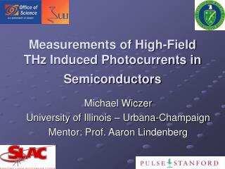 Measurements of High-Field THz Induced Photocurrents in Semiconductors