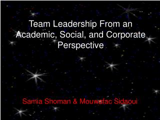 Team Leadership From an Academic, Social, and Corporate Perspective