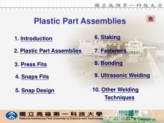 Plastic Part Assemblies