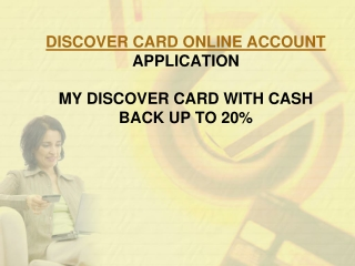 Discover card application with cashback rewards