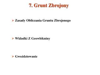7. Grunt Zbrojony